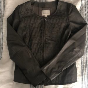 Faux Leather Jacket by Hinge